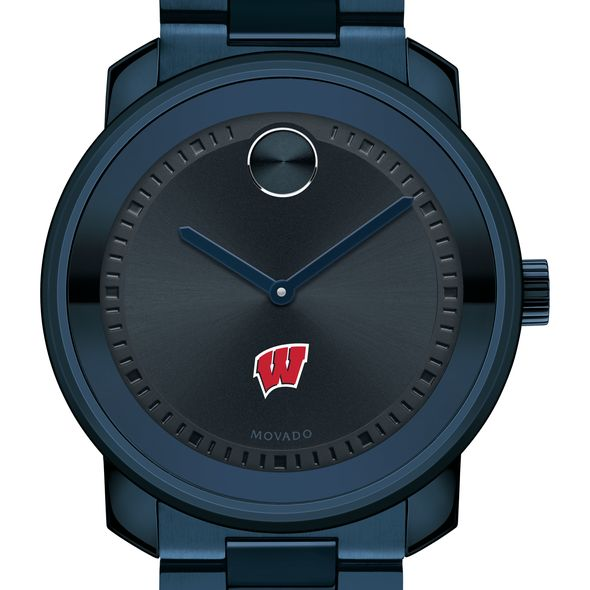 University of Wisconsin Men's Movado BOLD Blue Ion with Bracelet - Image 1