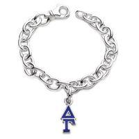 Delta Gamma Sterling Silver Charm Bracelet w/ Letter Charm