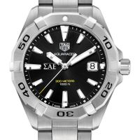 Sigma Alpha Epsilon Men's TAG Heuer Steel Aquaracer with Black Dial