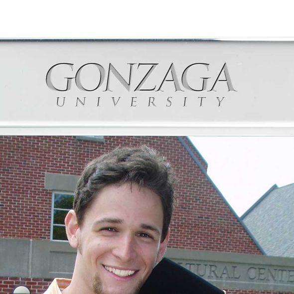 Gonzaga Polished Pewter 5x7 Picture Frame - Image 2