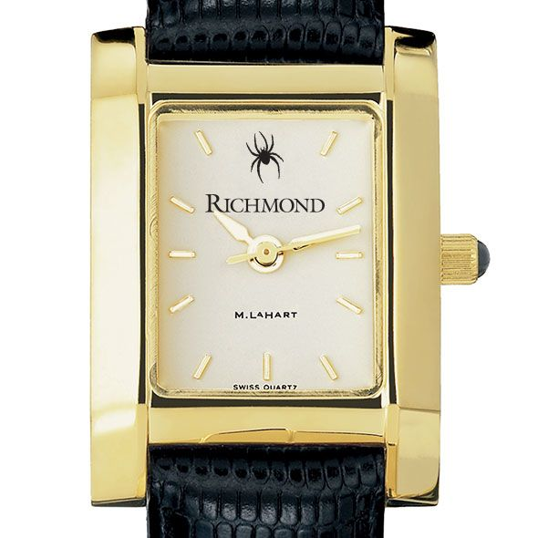 University of Richmond Women's Gold Quad with Leather Strap