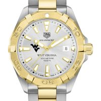 West Virginia University Men's TAG Heuer Two-Tone Aquaracer