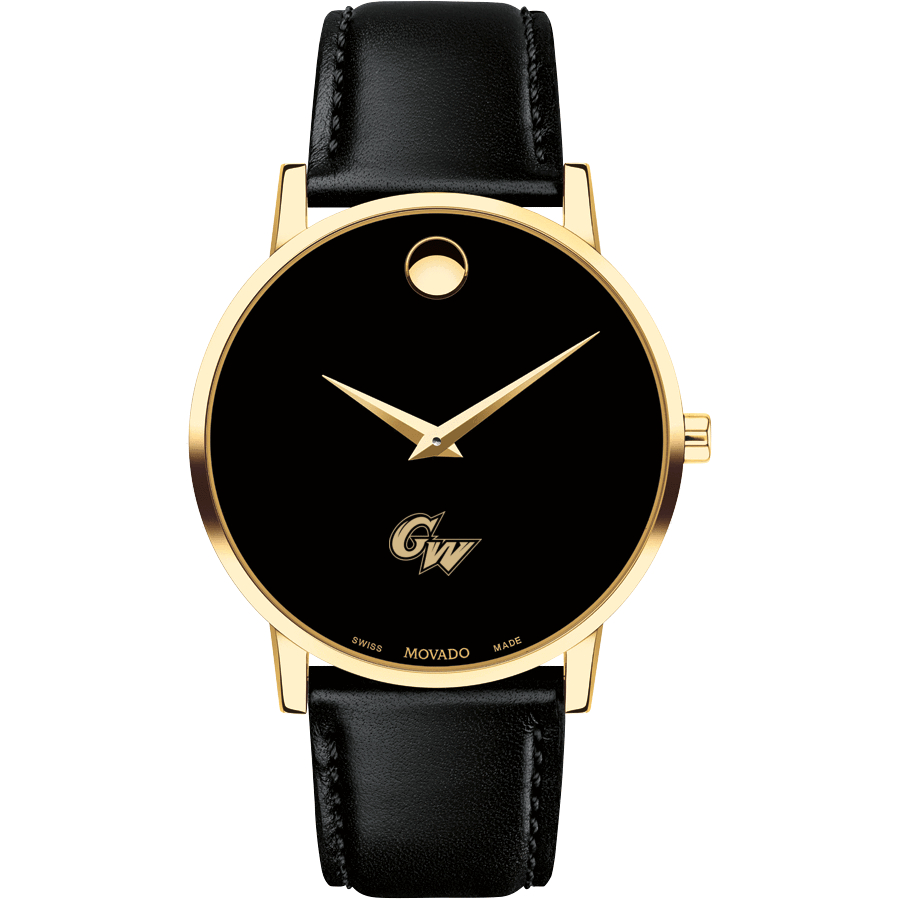 George Washington Men's Movado Gold Museum Classic Leather - Image 2