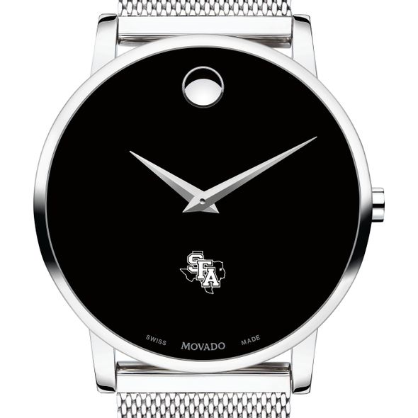 Stephen F. Austin State University Men's Movado Museum with Mesh Bracelet - Image 1
