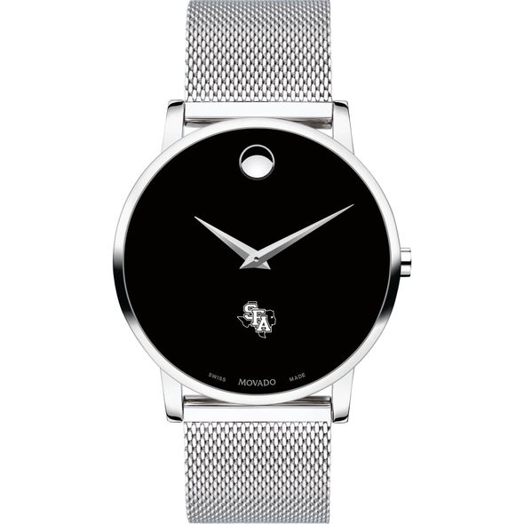 Stephen F. Austin State University Men's Movado Museum with Mesh Bracelet - Image 2
