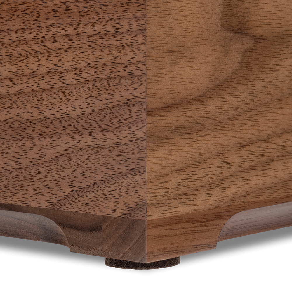 Texas Christian University Solid Walnut Desk Box - Image 4