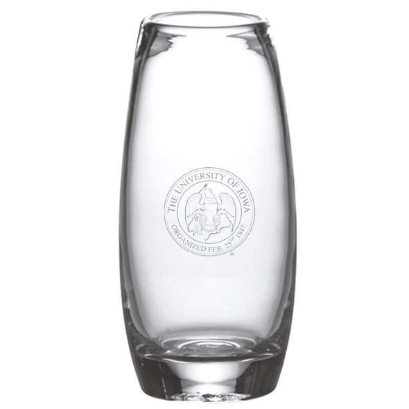 University of Iowa Glass Addison Vase by Simon Pearce
