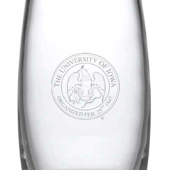 University of Iowa Glass Addison Vase by Simon Pearce - Image 2