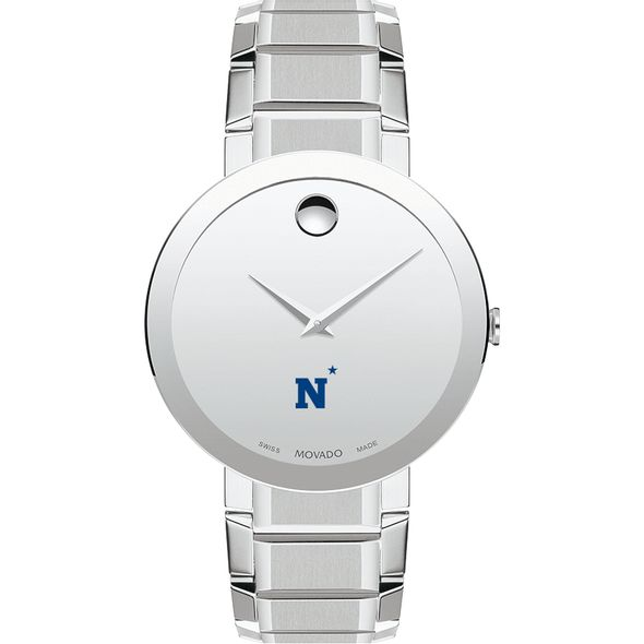 US Naval Academy Men's Movado Sapphire Museum with Bracelet - Image 2