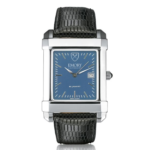 Emory Men's Blue Quad Watch with Leather Strap - Image 2