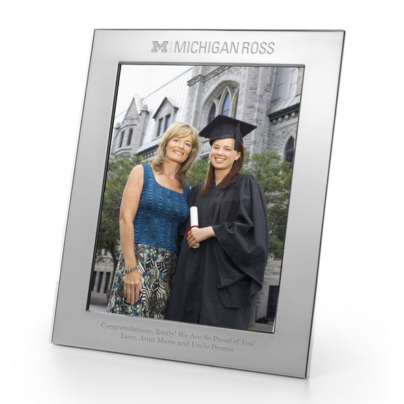 Michigan Ross Polished Pewter 8x10 Picture Frame