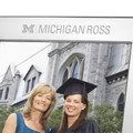 Michigan Ross Polished Pewter 8x10 Picture Frame - Image 2