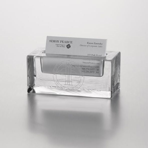 NC State Glass Business Cardholder by Simon Pearce