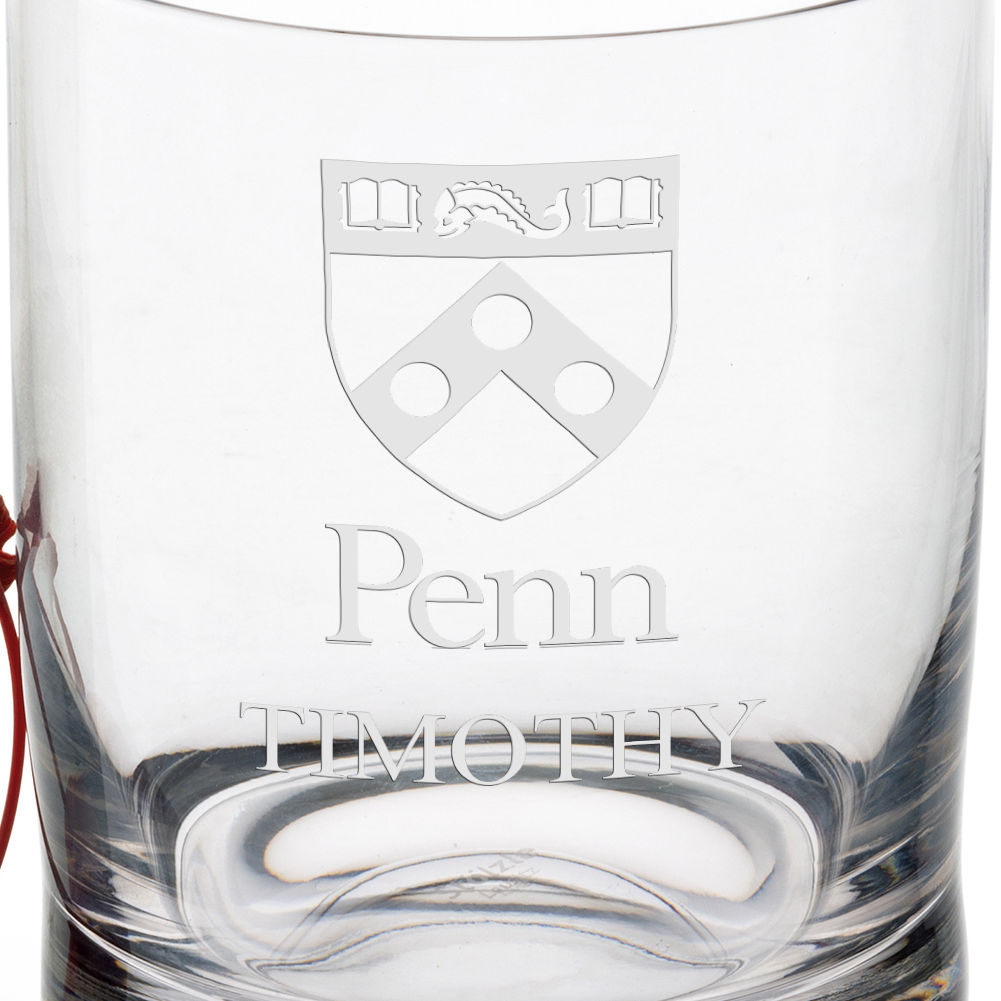 University of Pennsylvania Tumbler Glasses - Set of 4 - Image 3