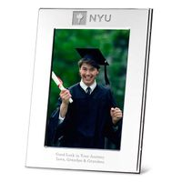 NYU Polished Pewter 4x6 Picture Frame