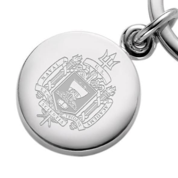 Naval Academy Sterling Silver Key Ring - Image 2
