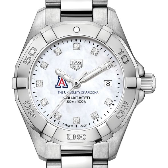 University of Arizona W's TAG Heuer Steel Aquaracer w MOP Dia Dial