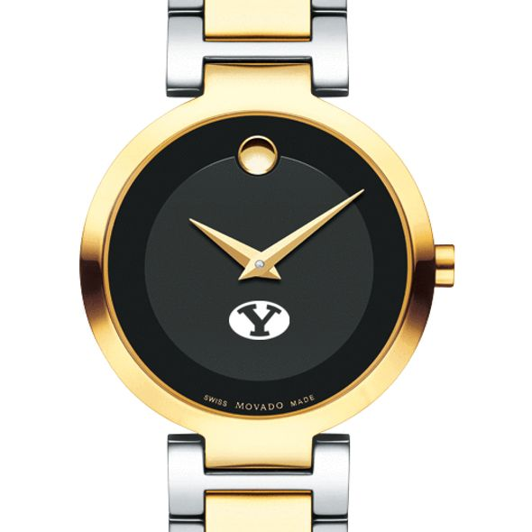 Brigham Young University Women's Movado Two-Tone Modern Classic Museum with Bracelet