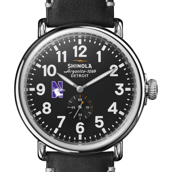 Northwestern Shinola Watch, The Runwell 47mm Black Dial