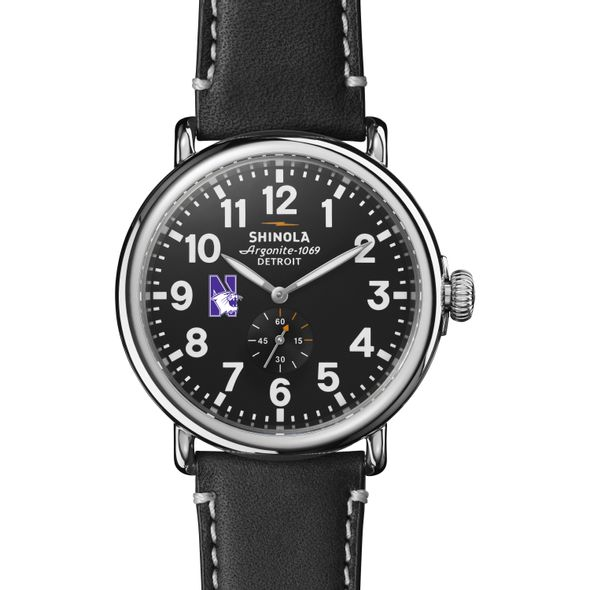 Northwestern Shinola Watch, The Runwell 47mm Black Dial - Image 2