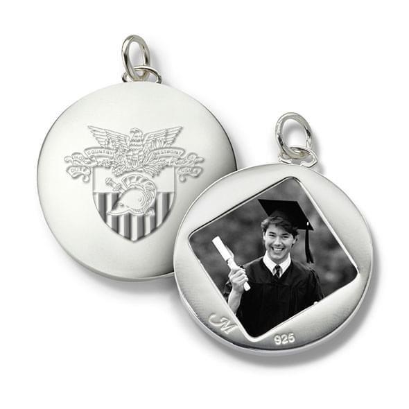 West Point Monica Rich Kosann Round Charm in Silver - Image 1