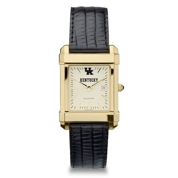 Kentucky Men's Gold Quad with Leather Strap - Image 2