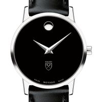 Emory University Women's Movado Museum with Leather Strap