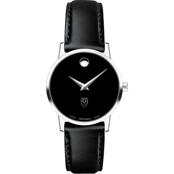 Emory University Women's Movado Museum with Leather Strap - Image 2