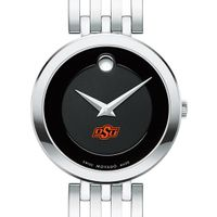 Oklahoma State University Women's Movado Esparanza Stainless Steel Museum with Bracelet
