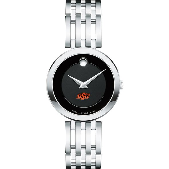 Oklahoma State University Women's Movado Esparanza Stainless Steel Museum with Bracelet - Image 2