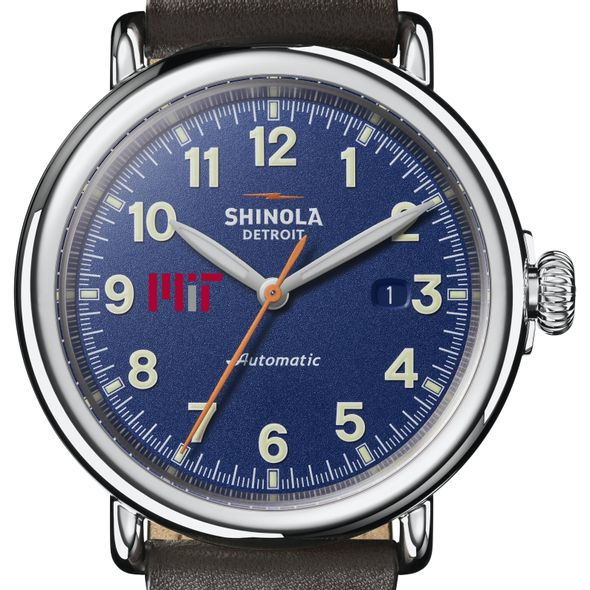 MIT Shinola Watch, The Runwell Automatic 45mm Royal Blue Dial - Image 1