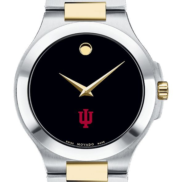 Indiana Men's Movado Collection Two-Tone Watch with Black Dial - Image 1