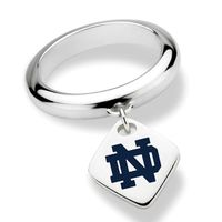 University of Notre Dame Sterling Silver Ring with Sterling Tag