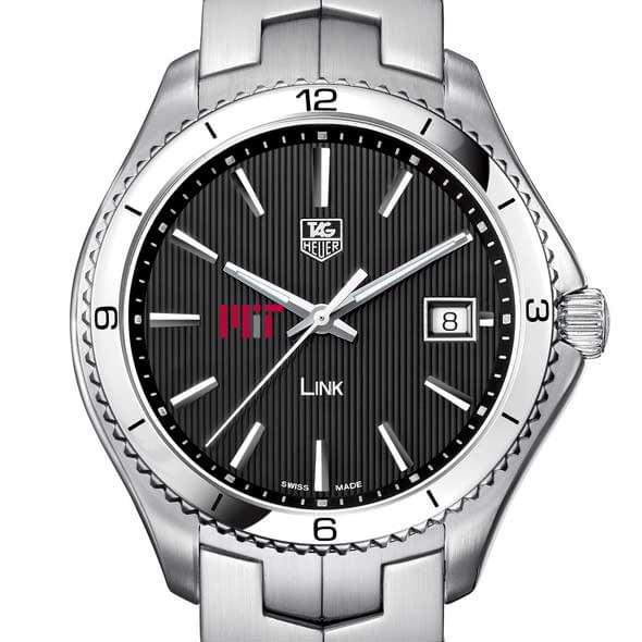 MIT TAG Heuer Men's Link Watch with Black Dial
