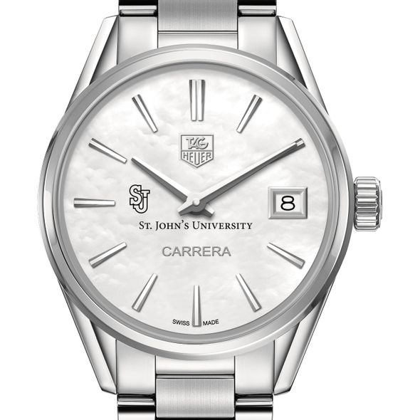 St. John's University Women's TAG Heuer Steel Carrera with MOP Dial