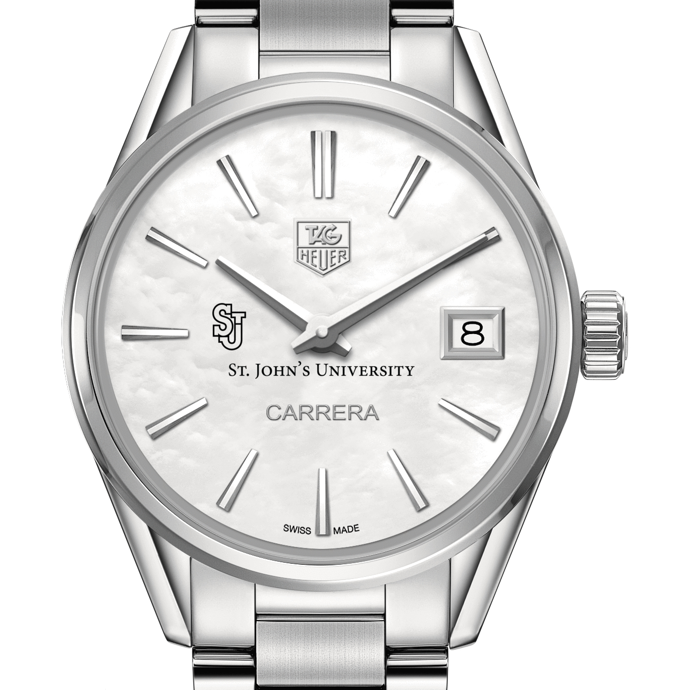 St. John's Women's TAG Heuer Steel Carrera with MOP Dial - Image 1
