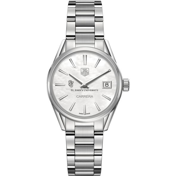 St. John's University Women's TAG Heuer Steel Carrera with MOP Dial - Image 2
