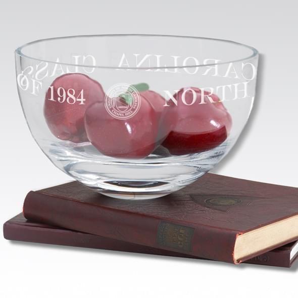 "UNC 10"" Glass Celebration Bowl - Image 2"