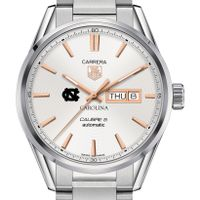 University of North Carolina Men's TAG Heuer Day/Date Carrera with Silver Dial & Bracelet
