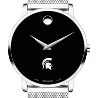 Michigan State University Men's Movado Museum with Mesh Bracelet