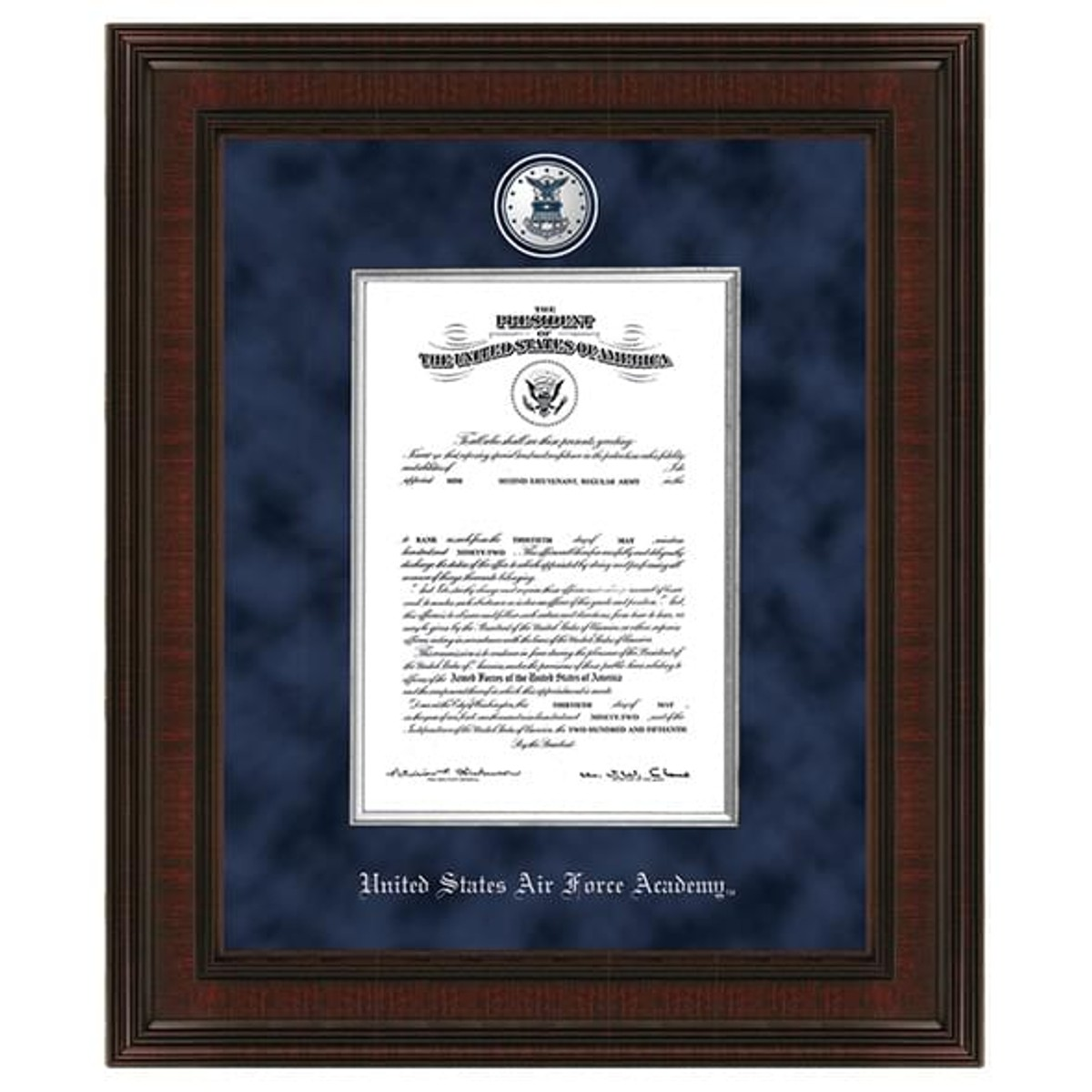 Us Air Force Academy Diploma Frame Excelsior