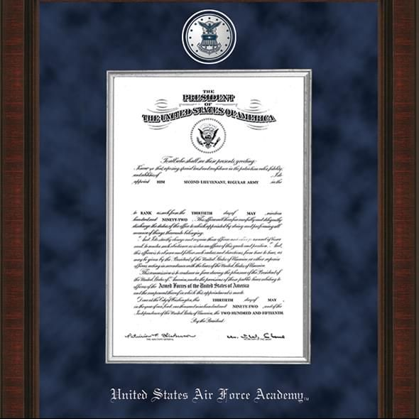 USAFA Excelsior Diploma Frame Comm Cert - Image 2