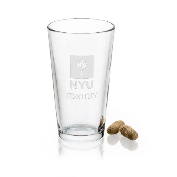 New York University 16 oz Pint Glass