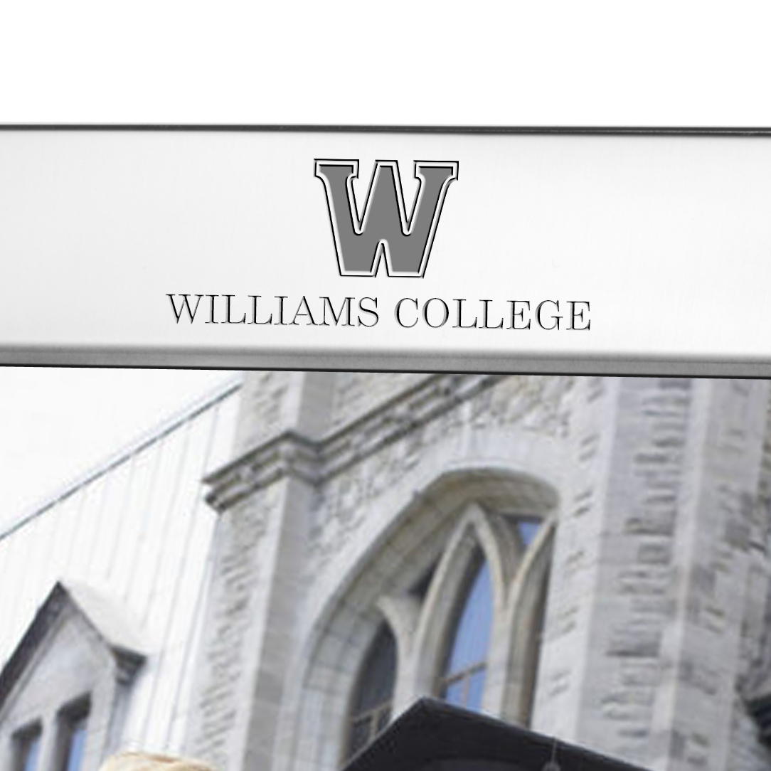 Williams College Polished Pewter 8x10 Picture Frame - Image 2