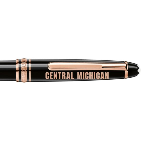 Central Michigan Montblanc Meisterstück Classique Ballpoint Pen in Red Gold - Image 2