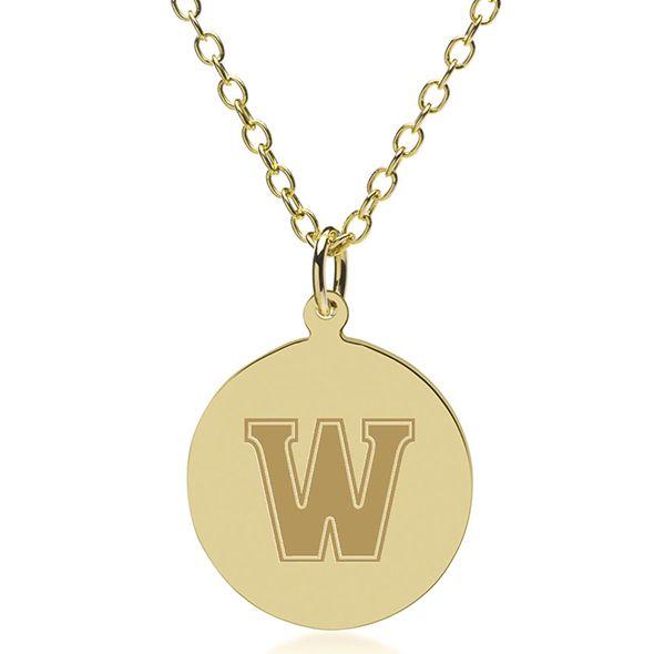 Williams College 18K Gold Pendant & Chain