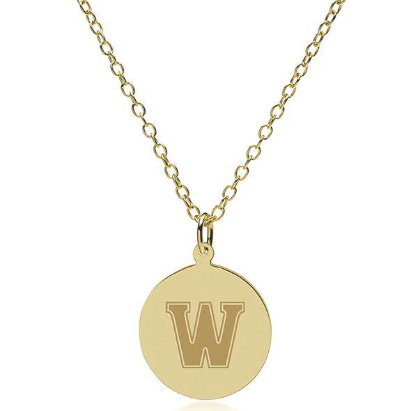Williams College 18K Gold Pendant & Chain - Image 2