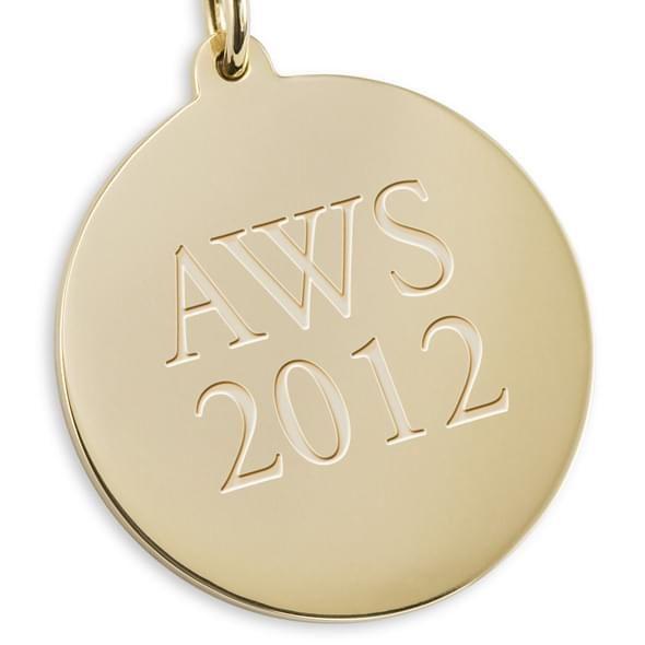 Williams College 18K Gold Pendant & Chain - Image 3