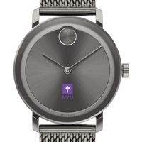 New York University Men's Movado BOLD Gunmetal Grey with Mesh Bracelet