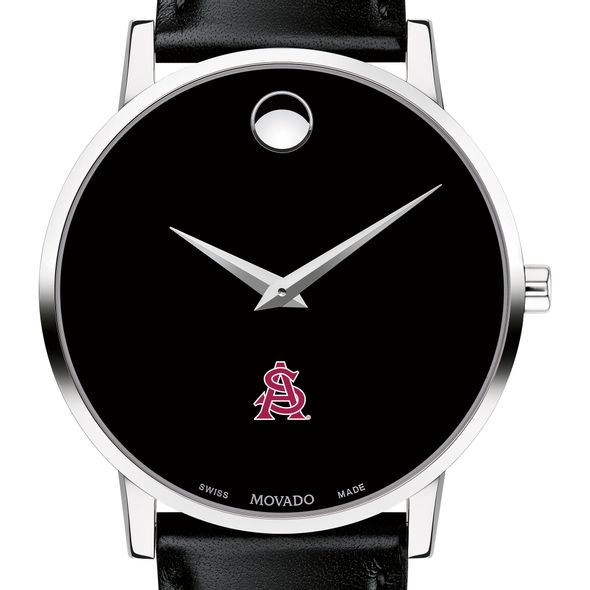 Arizona State Men's Movado Museum with Leather Strap